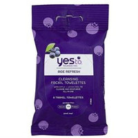 Yes To Blueberries Travel Cleansing Towelettes - 8 Count