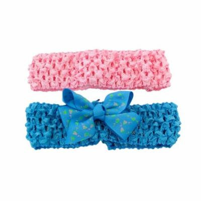 Greatlookz Rose Ribbon Bow Stretchy Headbands 2 Pack