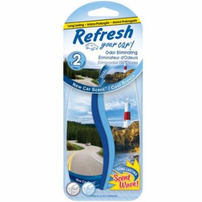 Refresh Your Car Paper 2-pack, New Car/Cool Breeze