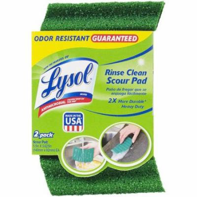 Lysol Antimicrobial Rinse Clean Scour Pads, 2 count