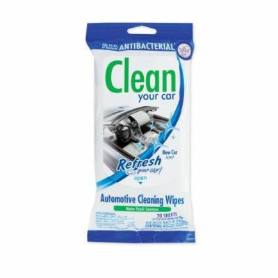 Refresh Your Car Cleaning Wipes 20 ct Resealable Pouch- New Car Scent