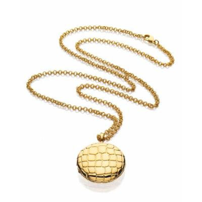Estée Lauder Beautiful Golden Alligator Necklace Compact