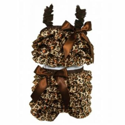 Stephan Baby Ruffled Flapper Top and Diaper Cover, Cheetah Print, 18-24 Months Multi-Colored