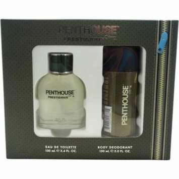 Prestigious by Penthouse for Men - 2 Pc Gift Set 3.4oz EDT Spray, 5oz Body Deodorant Spray