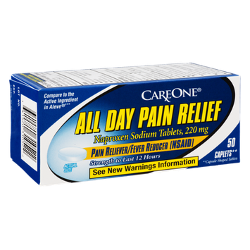 CareOne All Day Pain Relief Caplets Pain Reliever/Fever Reducer - 50 CT