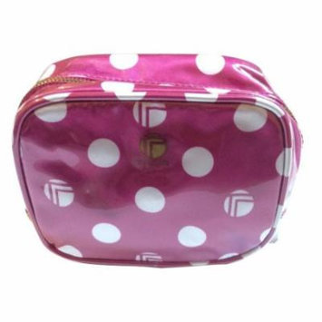 Trina Pink White Polka Dot Cosmetic Travel Makeup Bag