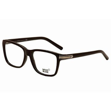 Mont Blanc Men's Designer Eyewear, Black/Other, 55-16-140