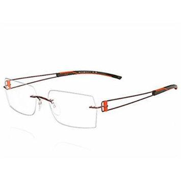 Silhouette Eyeglasses Titan Elements 7759 6053 Brown/Orange 7759-6053 without demo lens
