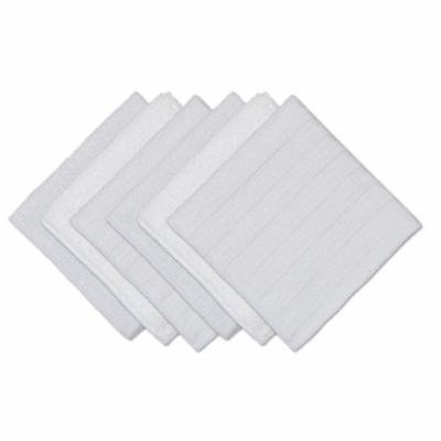 Set of 6 Textured,White, Scrub, Scour and Polish Cleaning and Dusting Cloths