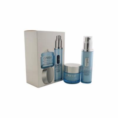 Clinique Easy Glowing 2 Pc Kit- All Skin Types Turnaround Revitalizing Serum, Turnaround Overnight Revitalizing Moisturizer Unisex