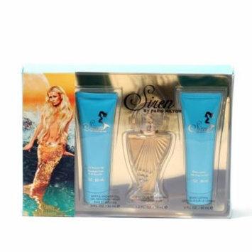 Siren By Paris Hilton 1 oz. Sp/3 oz. Body Gel/3 oz. Body Lotion Size: Set