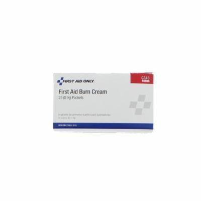 First Aid Only G343 First Aid Burn Cream, 25/box