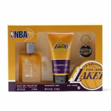 Air-Val International NBA Lakers 3.4 oz. Sp/5.1 oz. Shower Gel/Key Ring Size: Set