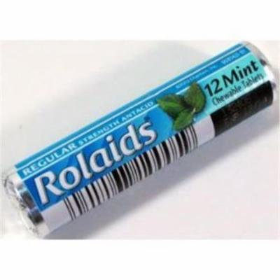 Rolaids Regular Strength Antacid Chewable Tablets, Mint - 12 Ea Roll