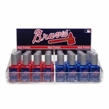 24 Piece Nail Polish MLB Atlanta Braves