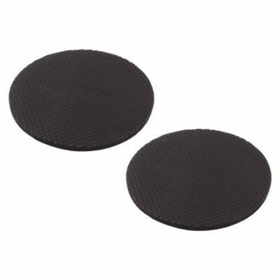 Sponge Antiskid Self Adhesive DIY Furniture Pads Mats Black 3.3 Inch 2pcs
