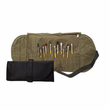 Bdellium Tools Studio Professional Makeup Brush Roll-Up Pouch (Black) (Bushes Not Included)