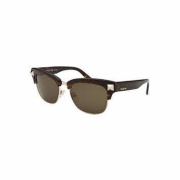 Valentino Studded Clubmaster Style Sunglasses in Havana V118S 215 53