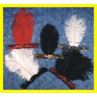 Headband - Sequin With 1 Feather