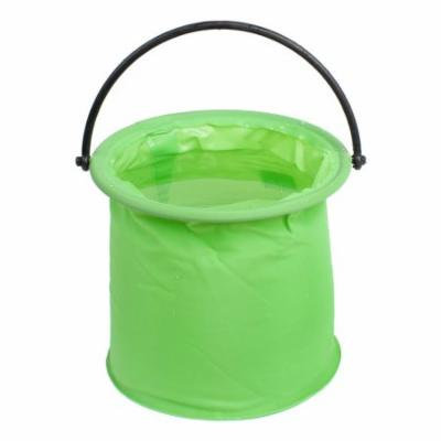 Portable Collapsible Two Cells Fishing Water Bucket Pail Green
