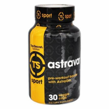 Top Secret Nutrition - Astravar Pre-Workout Booster with AstraGin - 30 Vegetarian Capsules