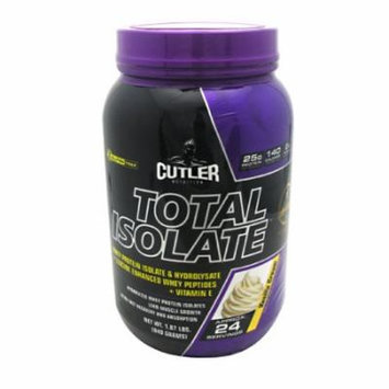 Cutler Nutrition Total Isolate Vanilla Cream - 24 Servings
