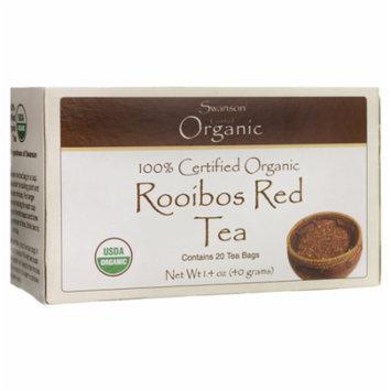 Swanson 100% Certified Organic Rooibos Red Tea 20 Bag(S)