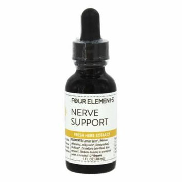 Four Elements Herbals - Fresh Herb Extract Tincture Nerve Support - 1 oz.