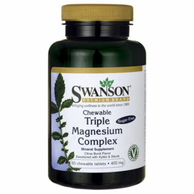 Swanson Triple Magnesium Complex 400 mg 60 Chwbls
