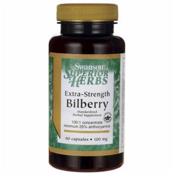 Swanson Extra-Strength Bilberry (Standardized) 100 mg 60 Caps