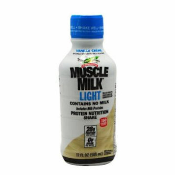 CytoSport Muscle Milk Light RTD, Vanilla Creme, 12-17 fl. oz. (500 ml)