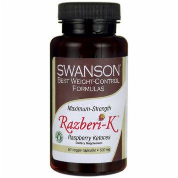 Swanson Maximum Strength Razberi-K 500 mg 60 Veg Caps
