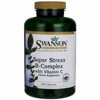 Swanson Super Stress Vitamin B-Complex with Vita 240 Caps