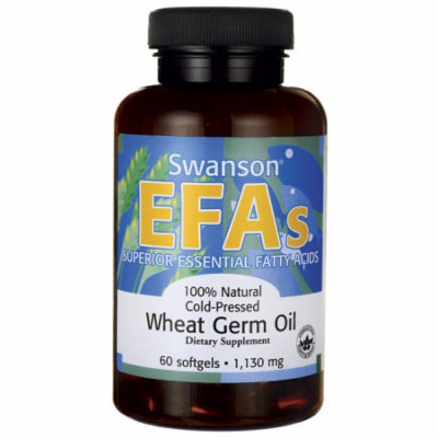 Swanson 100% Natural Cold-Pressed Wheat Germ Oil 1,130 mg 60 Sgels