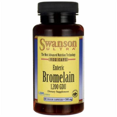 Swanson Enteric Bromelain 1,200 Gdu 500 mg 60 Veg Drcaps