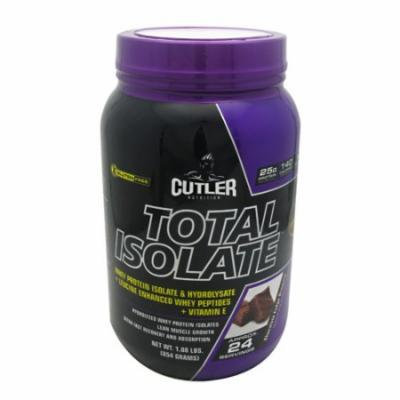Cutler Nutrition Total Isolate Chocolate Fudge Brownie - 24 servings