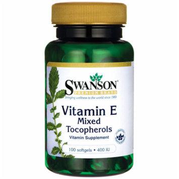Swanson Vitamin E Mixed Tocopherols 400 Iu 100 Sgels
