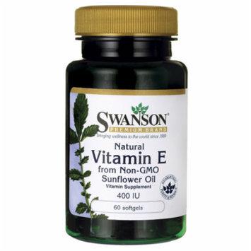 Swanson Natural Vitamin E from Non-Gmo Sunflower 400 Iu 60 Sgels