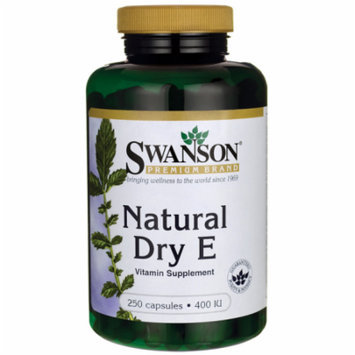 Swanson Natural Dry Vitamin E 400 Iu 250 Caps