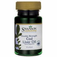 Swanson Double-Strength Cod Liver Oil 2,500 Iu A/270 Iu D 30 Sgels