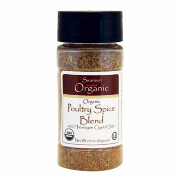 Swanson Organic Poultry Spice Blend 2.4 oz (68 grams) Pwdr