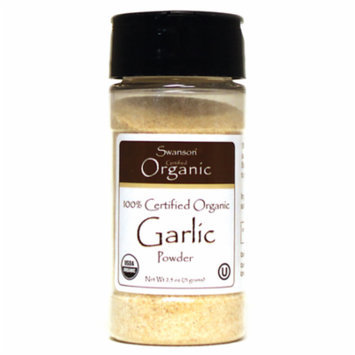 Swanson 100% Certified Organic Garlic Powder 2.5 oz (71 grams) Pwdr