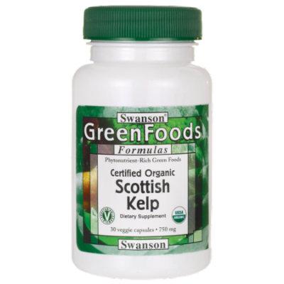 Swanson Certified Organic Scottish Kelp 750 mg 30 Veg Caps