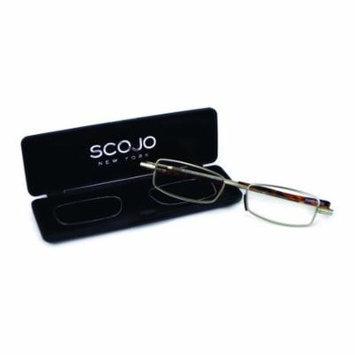 Scojo New York Unisex Flatiron 2.50 Silver Reading Glasses