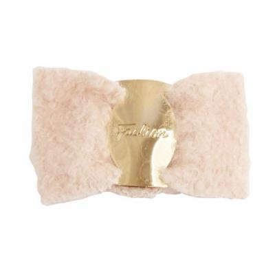 Light Pink Worsted Bowknot Ponytail Barrette Hair Clip Clasp
