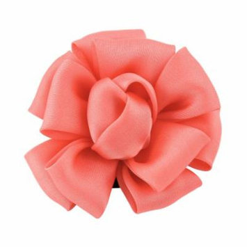 Woman Light Red Mini Rose Flower Shape Corsage Hair Clip Wedding Bridal
