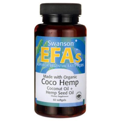 Swanson Made with Organic Coco Hemp Coconut Oil 60 Sgels