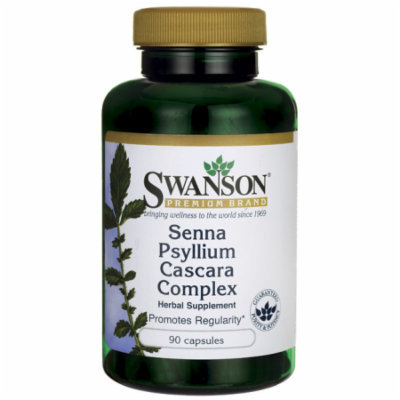 Swanson Senna Psyllium Cascara Complex 90 Caps