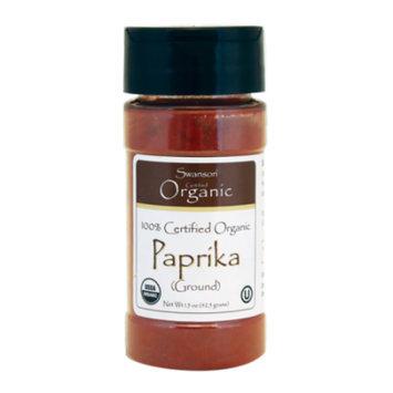 Swanson 100% Certified Organic Paprika (Ground) 1.5 oz (42.5 grams) Pwdr