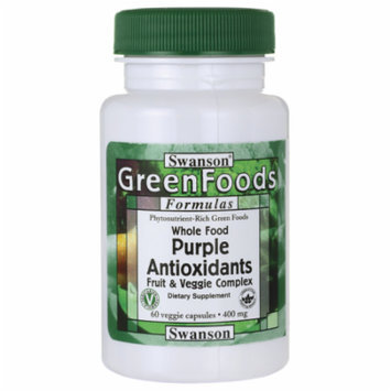 Swanson Whole Food Purple Antioxidants Fruit & V 400 mg 60 Veg Caps
